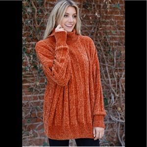 Pumpkin Spice Oversized Turtleneck Sweater